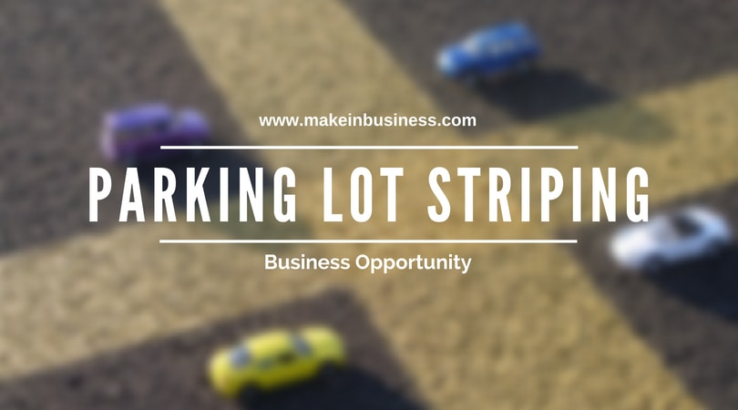 parking lot striping business