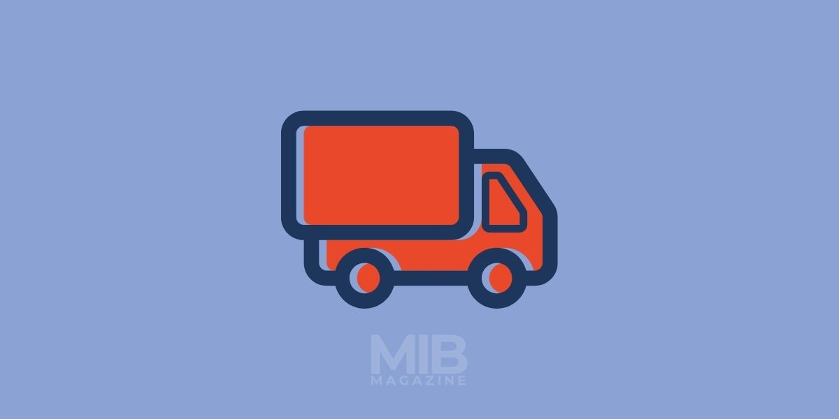 a truck picking up goods