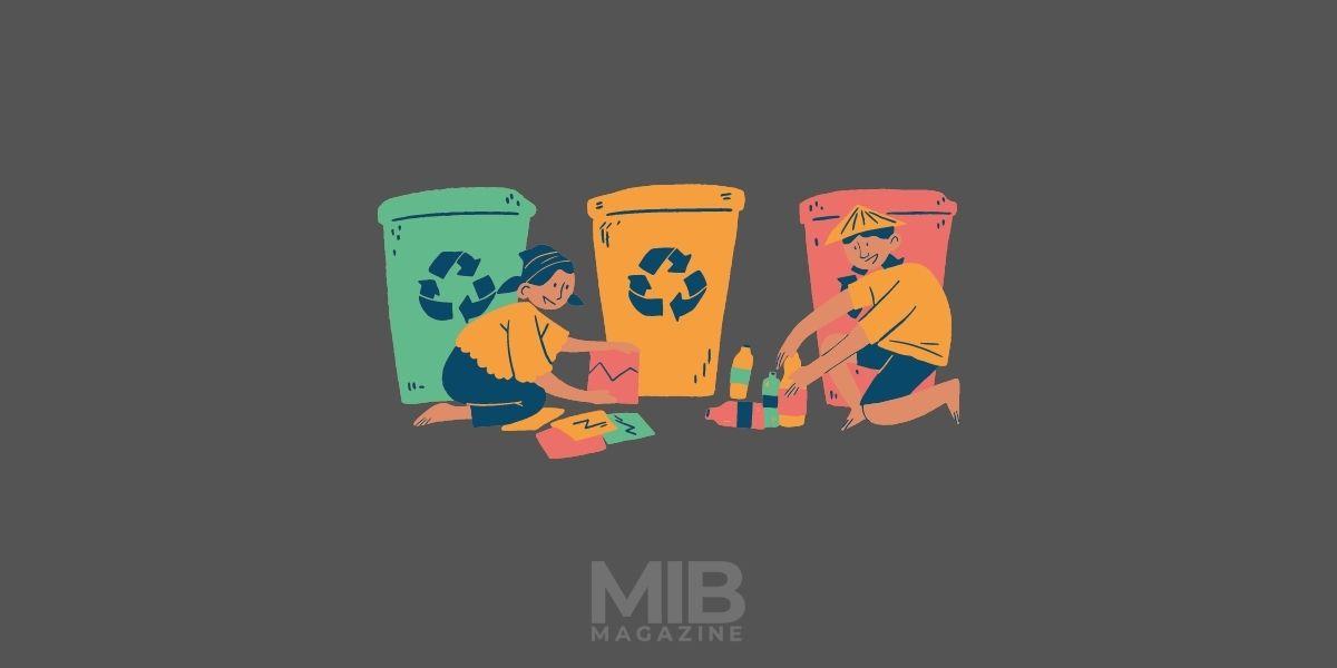 a collection bin for scrap yard